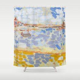 Harbour with Boats Shower Curtain