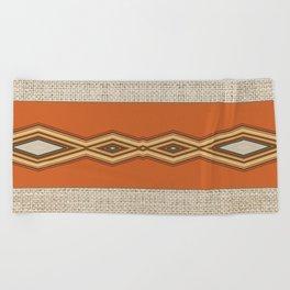 Southwestern Earth Tone Texture Design Beach Towel