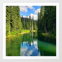 Pacific North West Alpine Lake Art Print