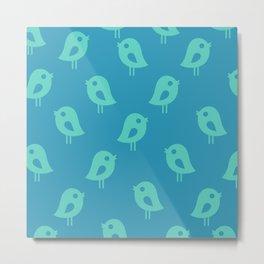 Little Birds (blue) Metal Print