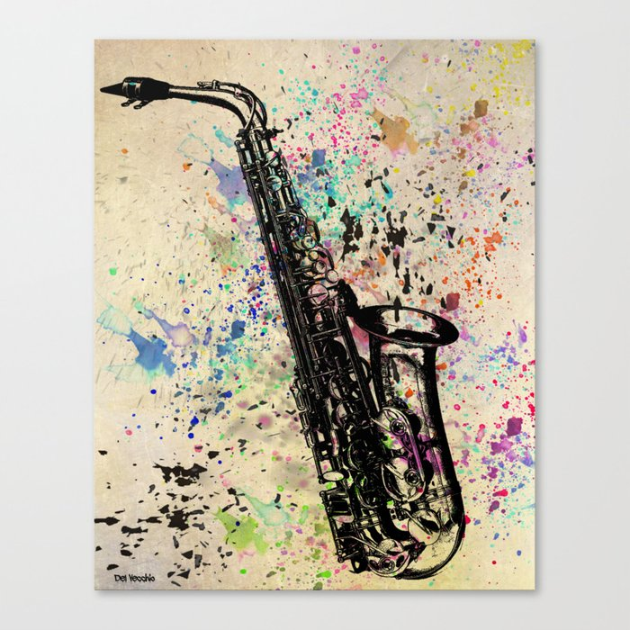 Sax-1 Canvas Print