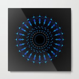 Native American Mandala Metal Print
