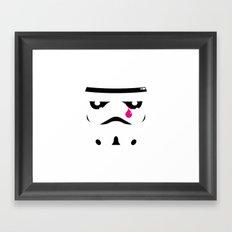 Sad Stormtropper Framed Art Print