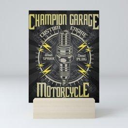 Garage Motorcycle, Mechanic Mini Art Print