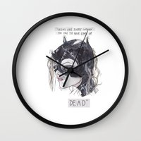 catwoman Wall Clocks featuring catwoman by SOB