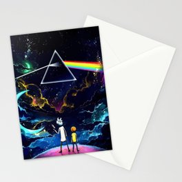 The dark side of a man and a boy Stationery Cards