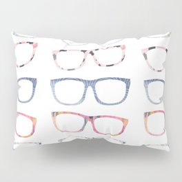Bespectacled // Watercolor Glasses Print Pillow Sham