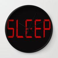 sleep Wall Clocks featuring Sleep by StevenARTify