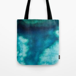 Blue Whirlwind Tote Bag