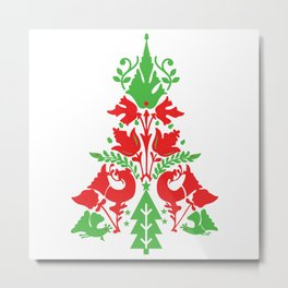 Scandinavian Christmas Metal Print
