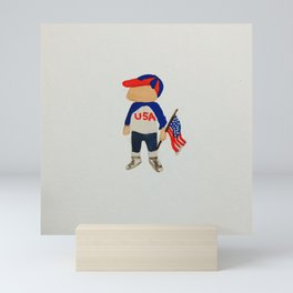 Toddlers Fourth of July Parade Watercolor Painting Mini Art Print