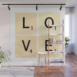 LOVE - Scrabble Letter Tiles Art Wall Mural