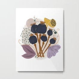 Fall Floral Bouquet Metal Print