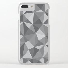 Geometric pyramids V5 Clear iPhone Case