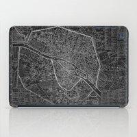 paris map iPad Cases featuring Paris map by Le petit Archiviste