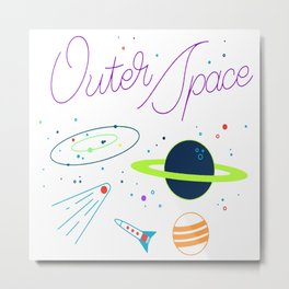 Outer Space! Metal Print