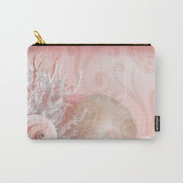 SEASHELL DREAMS | pink Carry-All Pouch