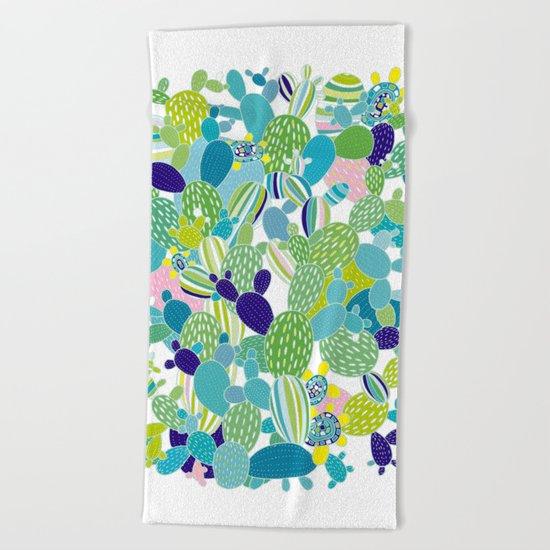 Cactus Mania Beach Towel