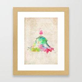 Meditation Exercise №1 Framed Art Print