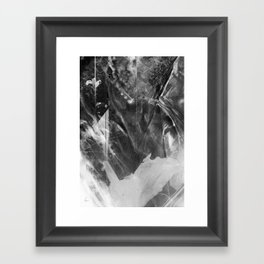 Black Crystal Framed Art Print
