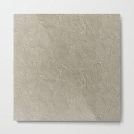 Beige Rough Plastering Texture Metal Print