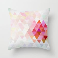 Abstract pink pastell triangle pattern- Watercolor illustration Throw Pillow