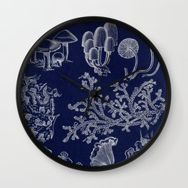 Fungus And Lichen Chart Wall Clock