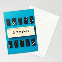 Domino pieces Stationery Cards
