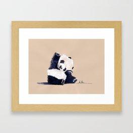 Hello Panda Framed Art Print