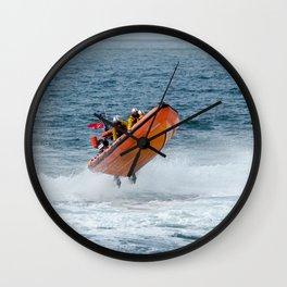 Lifeboat jump Wall Clock