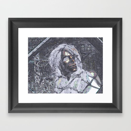 Caught in a Nightmare! Framed Art Print
