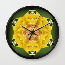 Orchid - Cymbidium Via Ambarino mandala/kaleidoscope I Wall Clock