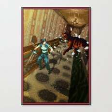 Pixel Art series 10 : Dogs Canvas Print