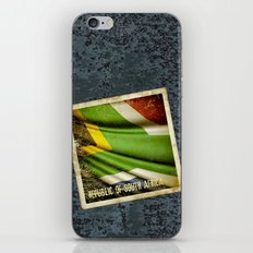 South Africa grunge sticker flag iPhone & iPod Skin