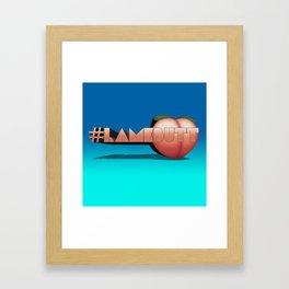 #LAMEBUTT Framed Art Print