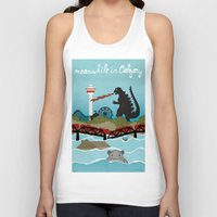 toddler Tank Tops featuring YYCFlood by KeliGirl