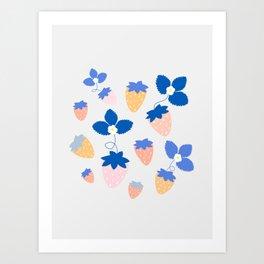 SWEET STRAWBERRIES Art Print