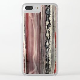 BLOODLINE Clear iPhone Case
