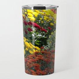 Chrysthemum Flowers Variety Travel Mug