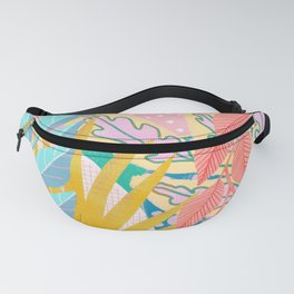 Modern Jungle Plants - Bright Pastels Fanny Pack