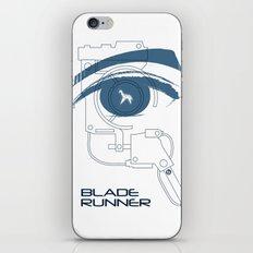 BLADE RUNNER (White - Voight Kampf Test Version) iPhone & iPod Skin