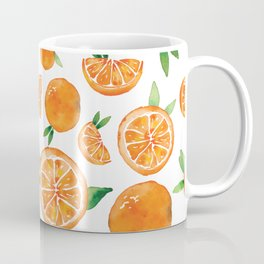 Zesty Orange Pattern Coffee Mug