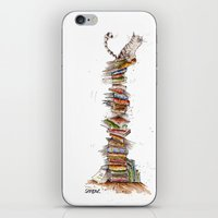 bad idea iPhone & iPod Skins featuring This was a bad idea  by Sean Fearillustration