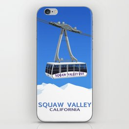 Squaw Valley Ski Resort ,LakeTahoe , California iPhone Skin