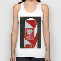 poland Tank Tops featuring Frontier between Poland and Germany by Premium