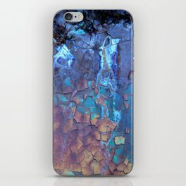 Waterfall. Rustic & crumby paint. iPhone Skin