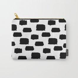 Brush, Print, Minimal, Scandinavian, Abstract, Pattern, Modern art Carry-All Pouch