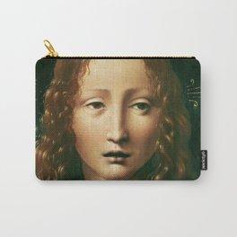 """Leonardo da Vinci """"Head of the Saviour"""" Carry-All Pouch"""