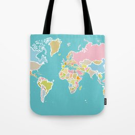 Map Print Tote Bag
