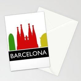 barcelona skyline Stationery Cards
